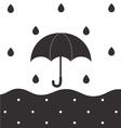Rainy BW vector image vector image