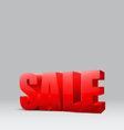Red 3D SALE sign vector image vector image