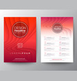 red flyer design template minimal abstract curved vector image vector image