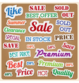 Retro vintage style speech sticker EPS10 vector image vector image