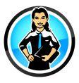 saleswoman vector image vector image