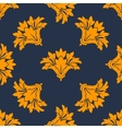 Seamless floral pattern with orange cornflowers vector image vector image