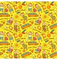 seamless pattern of school cheerful background vector image vector image