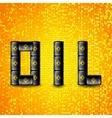 Set of Black Metal Oil Barrels vector image vector image