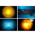 Set of technology backgrounds vector image vector image