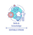 skills and knowledge concept icon vector image vector image