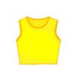 sleeveless tanktop yellow shirt fashion style item vector image vector image