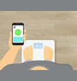 smart scales mobile app vector image
