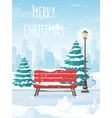 snowy winter city park vector image vector image