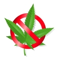 Stop marijuana sign vector image