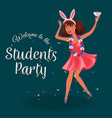 students knees-up poster vector image vector image