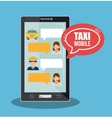 taxi service call center driver bubble speech vector image vector image