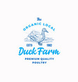 the organic poultry farm abstract sign vector image vector image