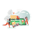 tracking delivery flat style design vector image