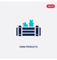 two color farm products icon from farming and vector image vector image