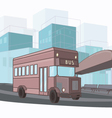 urban colorful city bus vector image