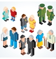 vector people with various ages vector image