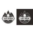 vintage wild west monochrome emblem vector image vector image