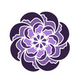 violet russian culture flower shape vector image vector image