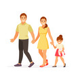 walking family vector image