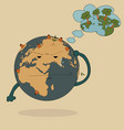 world map earth globe for save world vector image vector image