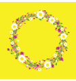 yellow round flowers vector image vector image