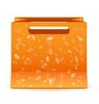 yellow sale bag isolated vector image