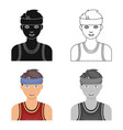 young basketball playerbasketball single icon in vector image
