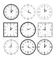 Set of 9 digital clock vector image