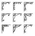 set of ornamental corners in vintage style vector image