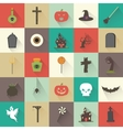 Halloween objects vector image