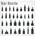 Bar bottle icon vector image