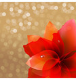 Abstract Red Flower With Bokeh vector image vector image