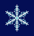 abstract snowflake on a blue background vector image vector image