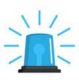 ambulence siren icon flat style vector image