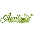 April the name of the month vector image