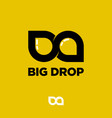 b and d letters big drop logo two drops like vector image vector image