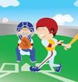 baseballground vector image vector image