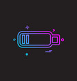 battery icon design vector image vector image