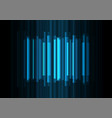 blue frequency bar overlap in dark background vector image