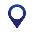 blue map pointer icon marker GPS location flag vector image