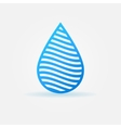 Blue water drop icon vector image vector image