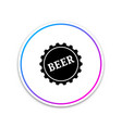 bottle cap with beer word icon on white background vector image vector image