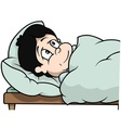 Boy Laying In Bed vector image