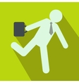 Businessman icon in flat vector image