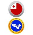 button as a symbol TONGA vector image vector image