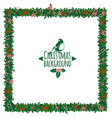 Christmas festive candy wreath frame vector image vector image