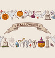 color cartoon shapes on halloween theme vector image vector image