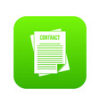 contract icon digital green vector image