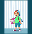 cute cartoon little boy character with ginger vector image vector image
